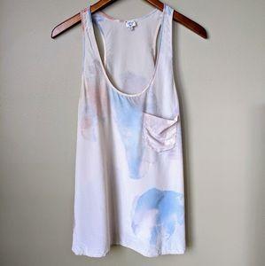 💖Aritzia Wilfred 100% Silk Watercolour Tank Top